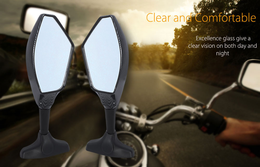 Paired Motorcycle LED Turn Signal Light Rear View Mirror for Honda