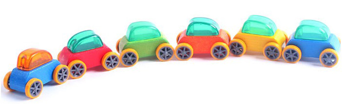 1pc Candy Wooden Intelligence Car Toddler Summer Toy