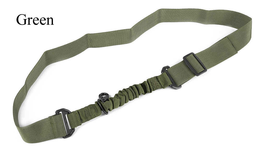Tactical Single Point Hunting Nylon Multifunctional Adjustable  Bungee Rifle Gun Airsoft Sling Strap
