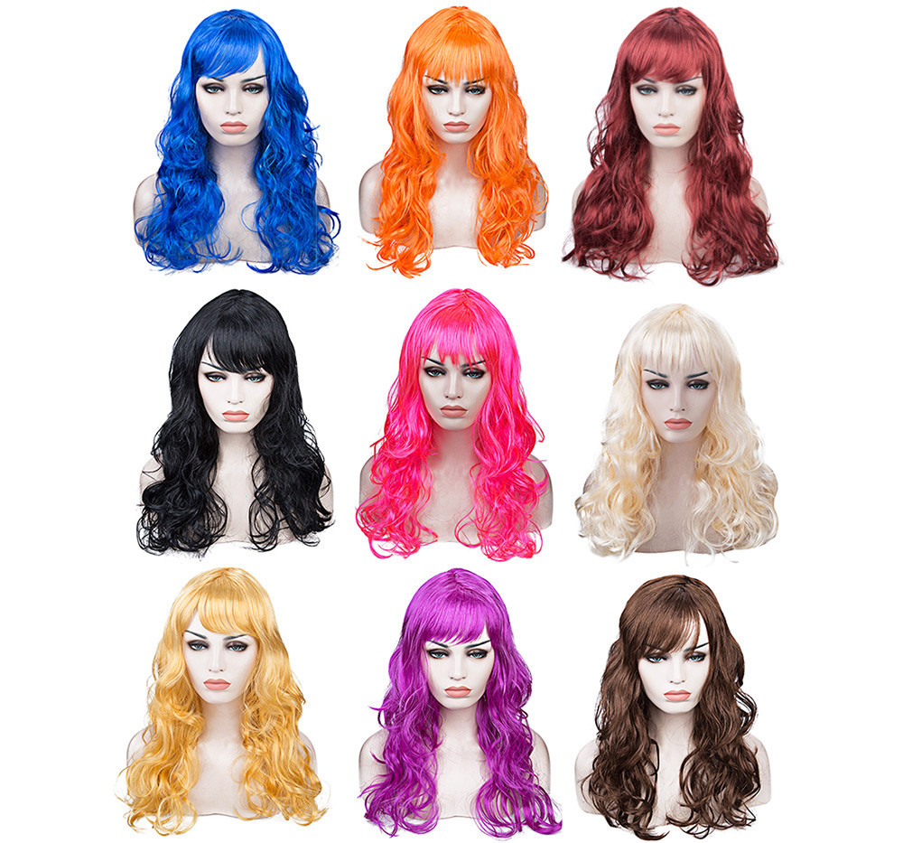 Long Big Wavy Wig Hair Cosplay Party Costume