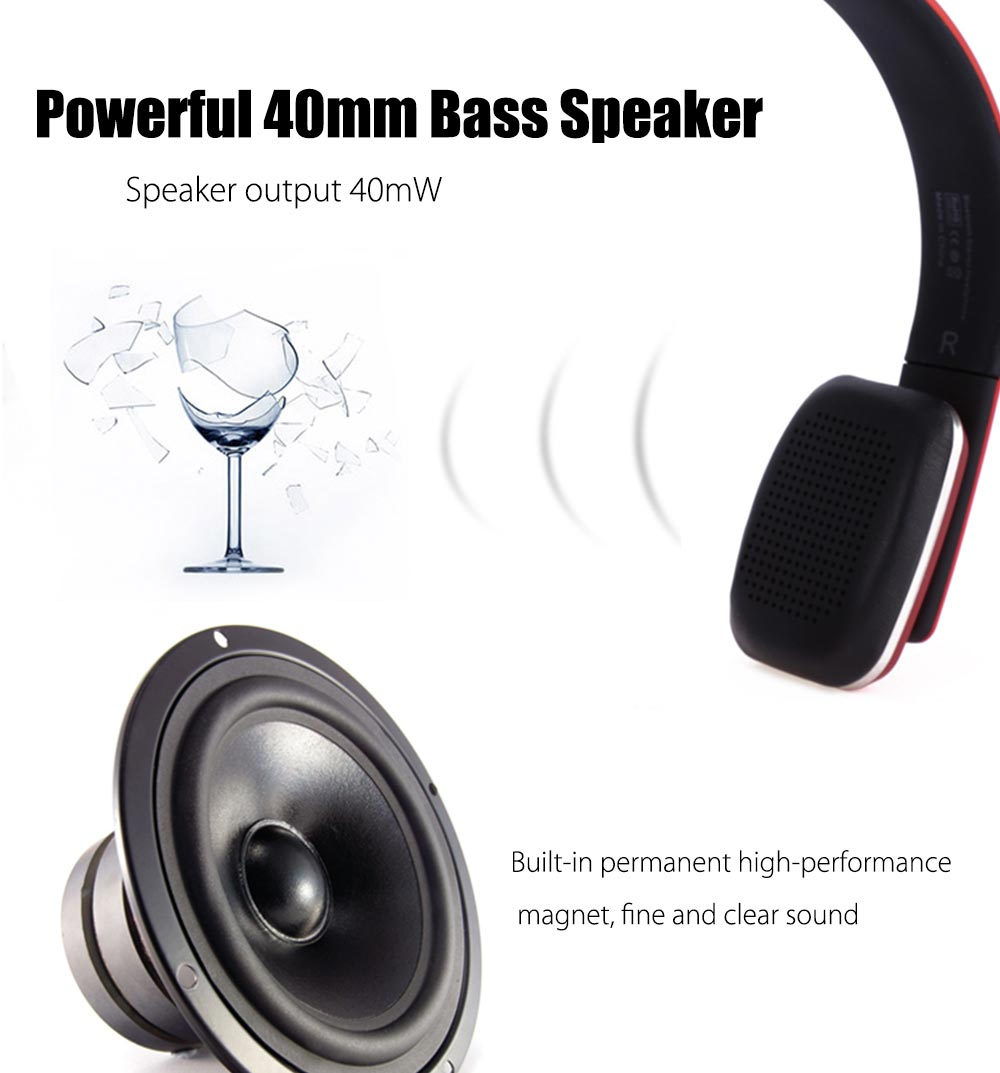 BOAS LC - 8600 Wireless Bluetooth 4.1 Stereo Over Earphone Headset with Built-in Microphone