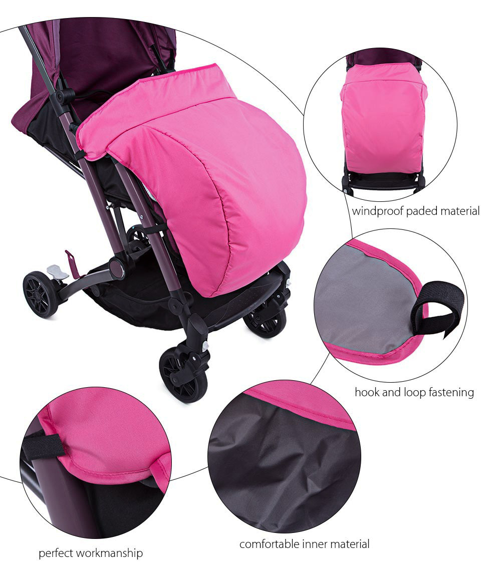 Universal Warm Winter Quilted Babies Stroller Foot Muff Windshield Cover
