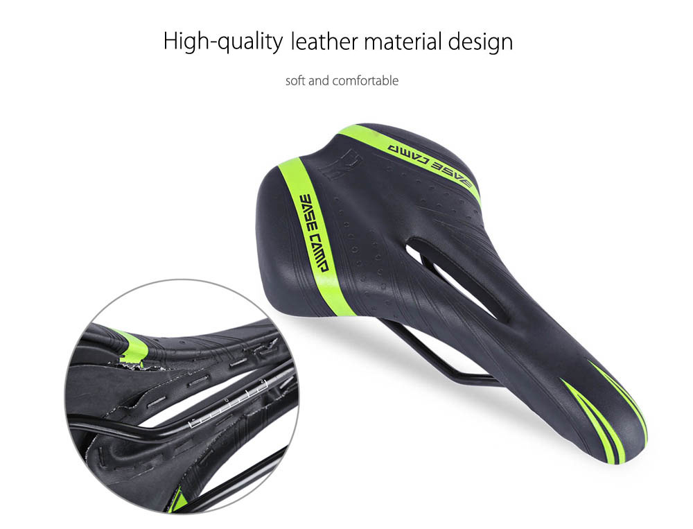 BaseCamp MTB Cycling Bicycle 3D Leather Ride Cushion Saddle Seat Mat Bike Parts Accessory