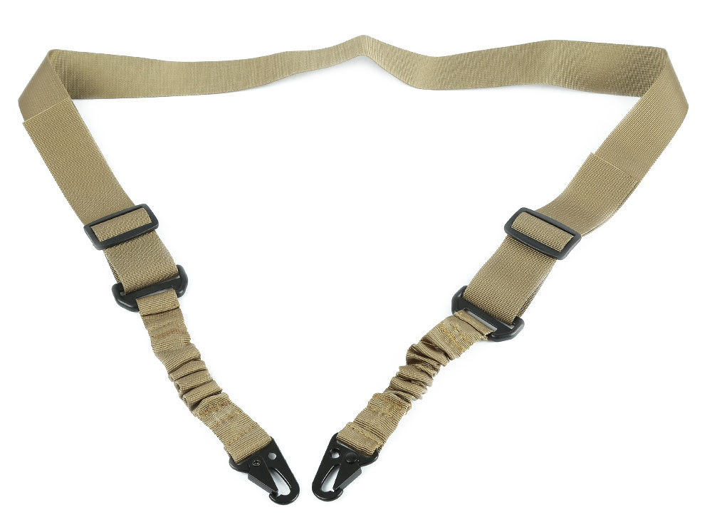 Tactical Two Point Adjustable Bungee Airsoft Strap Paintball Rifle Gun Sling for Hunting
