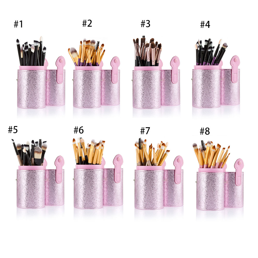 20pcs Professional Cosmetic Makeup Tool Powder Foundation Brush with Pink Case