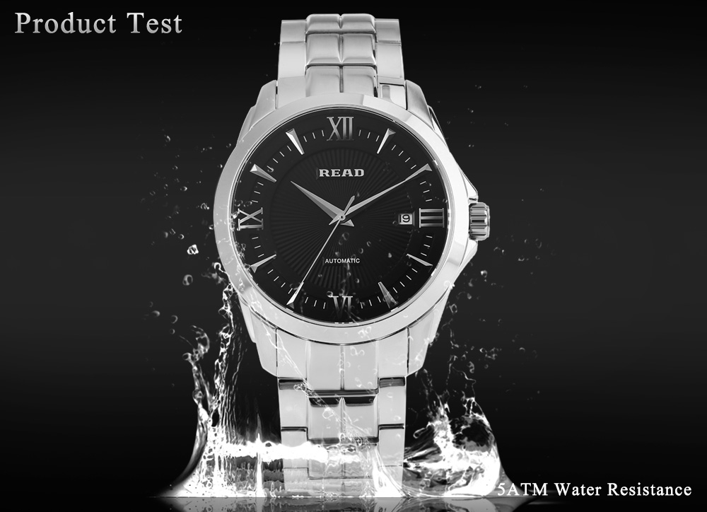 READ R8005G Male Automatic Mechanical Watch Date 5ATM Sapphire Mirror Wristwatch