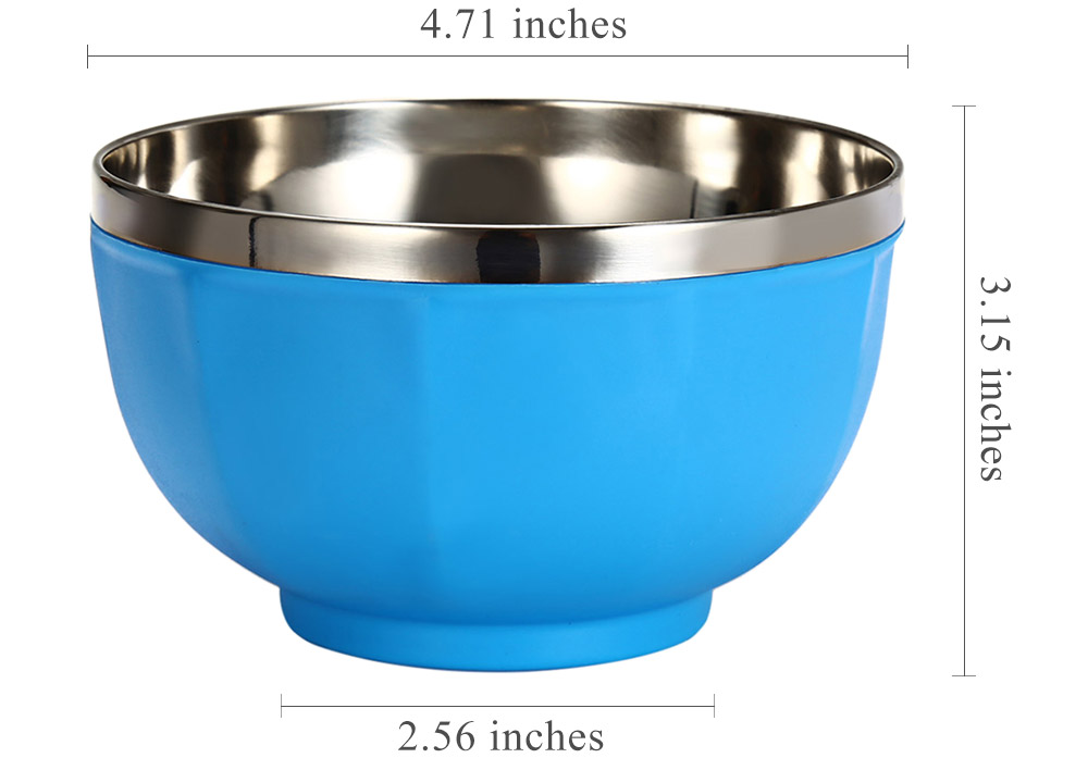6pcs Stainless Steel Candy Color Bowl Set
