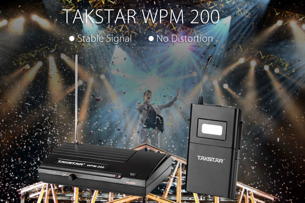 TAKSTAR WPM 200 In-ear Wireless Stage Monitor Receiver Transmitter Earphones Headphones