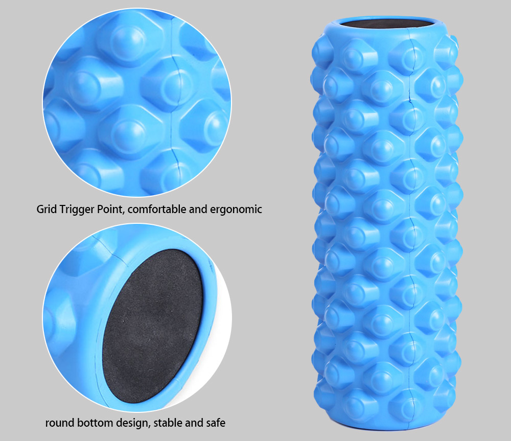Practical Yoga Pilates Column Roller with Grid Trigger Point