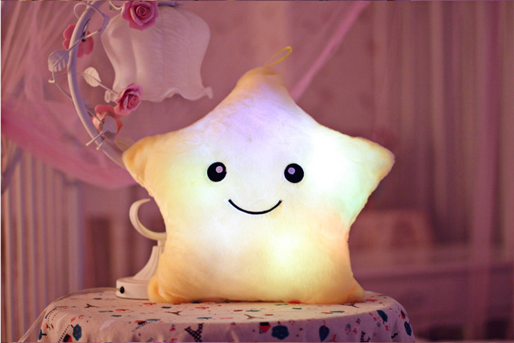 LED Light Luminous Star Doll Pillow Toy
