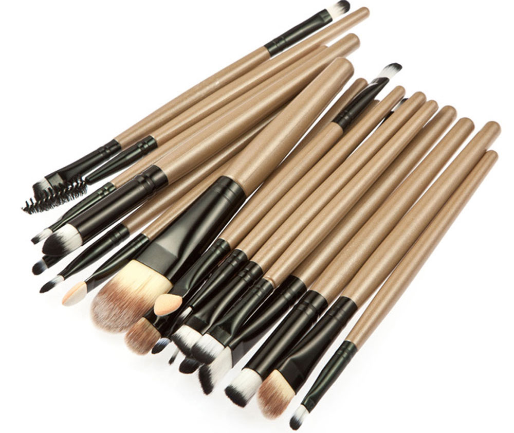 20pcs Professional Cosmetic Makeup Tool Powder Foundation Brush with  Black Case
