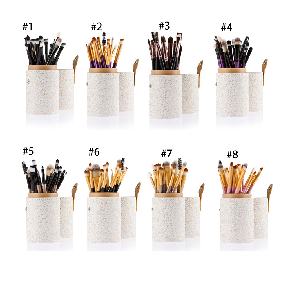 20pcs Professional Cosmetic Makeup Tool Powder Foundation Brush with  White Case