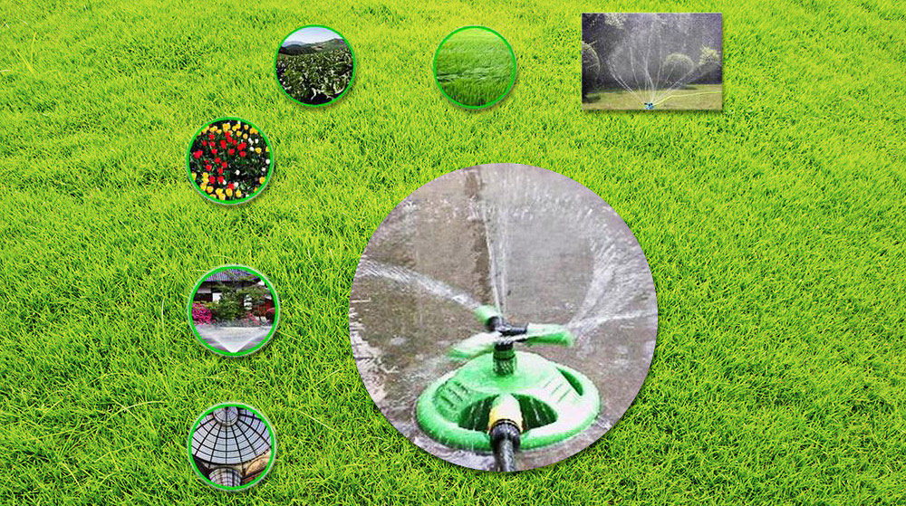 360-degree Rotary Garden Lawn Sprinkler Automatic Water Spray Irrigation Watering