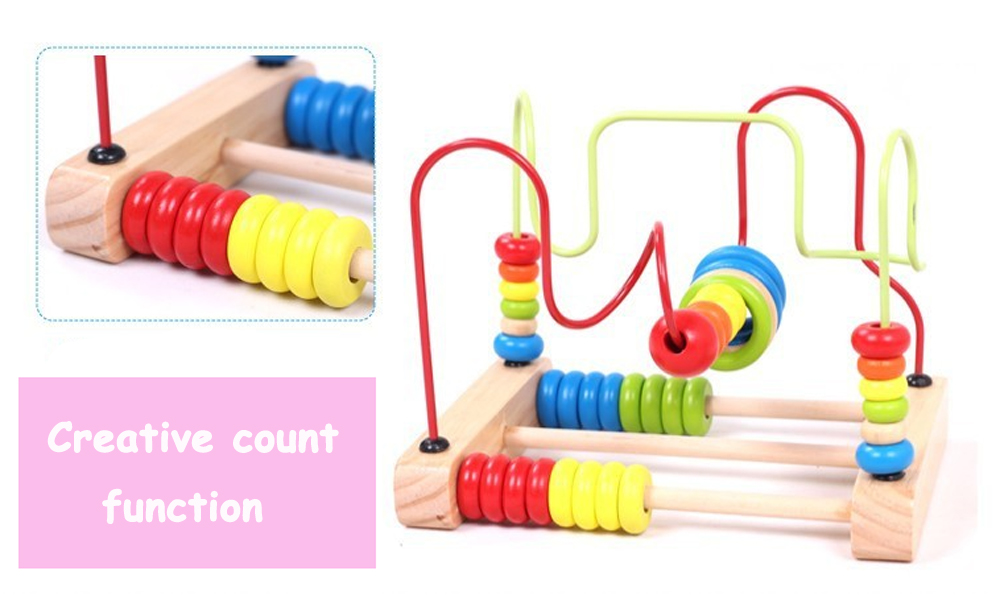 WoodenAbacus Around Beads Educational Game Toys
