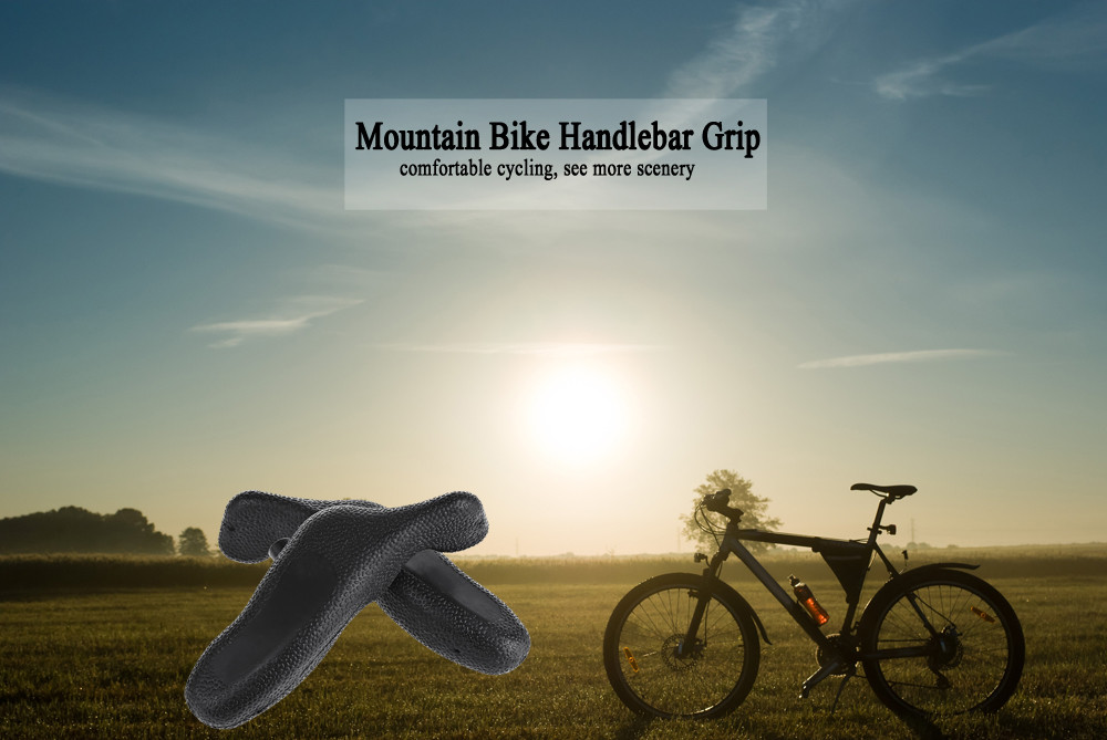 Paired Rubber Lock-on Handlebar Grips for Mountain Bicycle Cycling