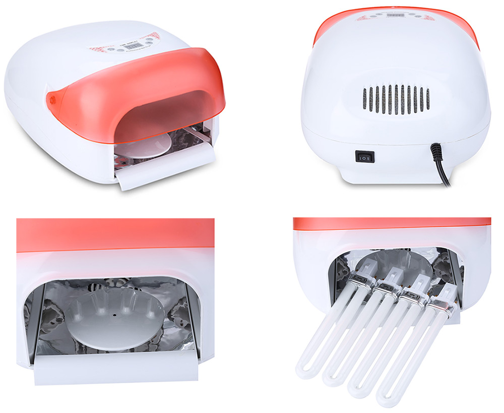 36W Manicure Tool UV Phototherapy Nail Gel Lamp with Fan