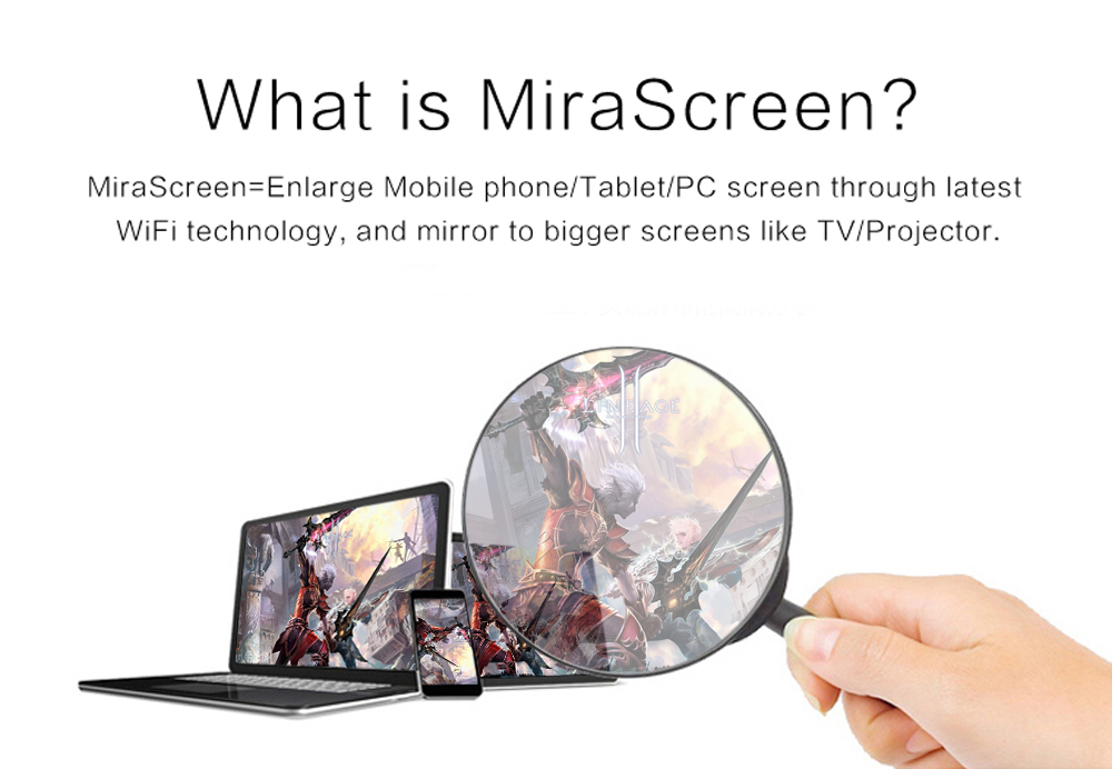 MiraScreen TV Dongle 5G DLNA Airplay Miracast Air Mirroring WiFi Display Receiver