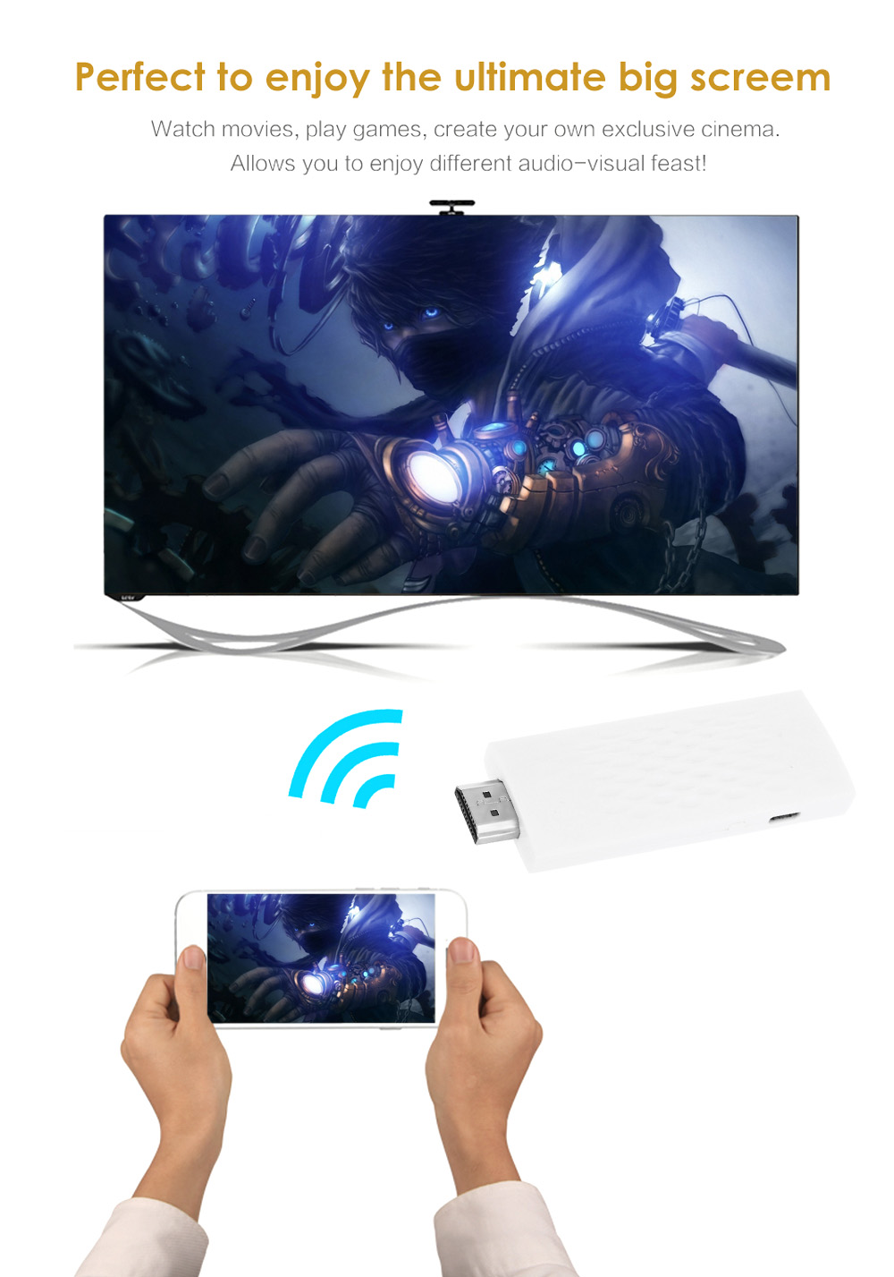 Wireless WiFi Display Dongle HDMI Adapter Miracast DLNA Airplay Receiver