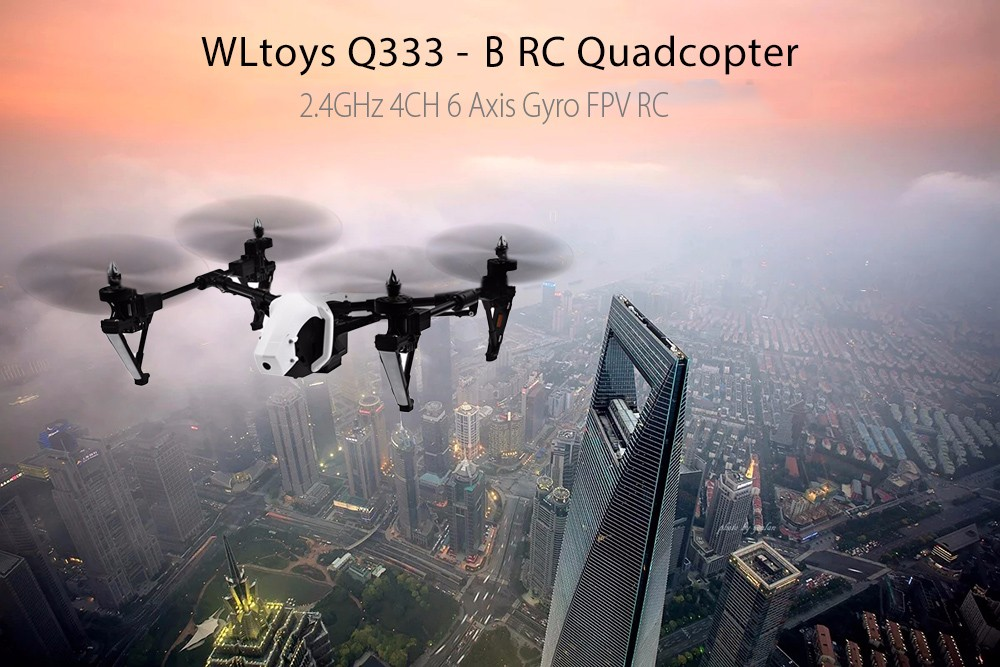 WLtoys Q333 - B 2.4GHz 4CH 6 Axis Gyro WiFi FPV RC Quadcopter Aircraft With 0.3MP Camera