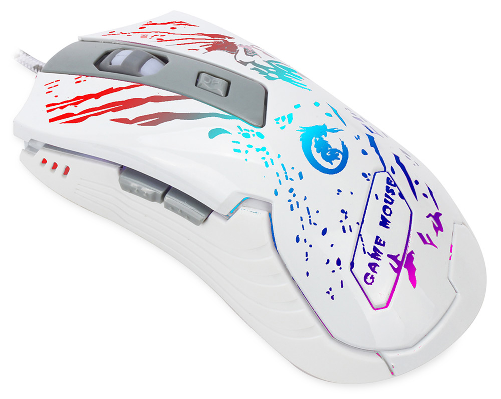 A905 Optical 3200DPI 6D USB Pro Gaming Wired Mouse with LED Backlight