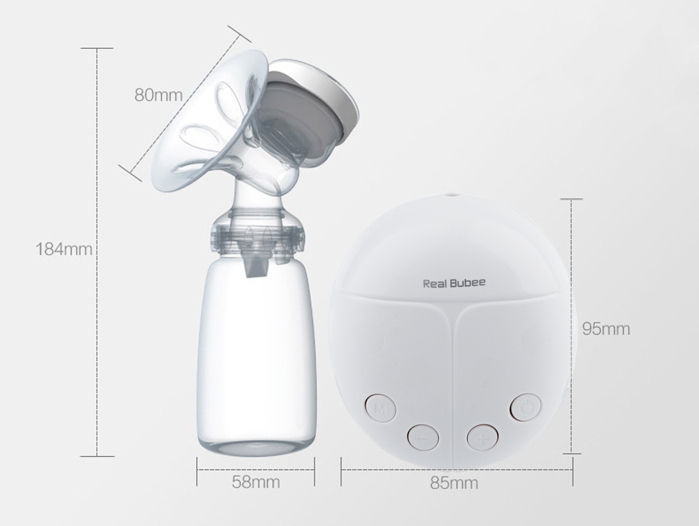 Powerful Double Intelligent Microcomputer USB Electric Breast Pump with Milk Bottle Cold Heat Pad