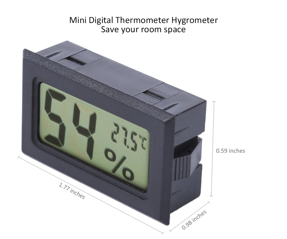Mini Digital LCD Indoor Temperature Sensor Humidity Meter Thermometer Hygrometer
