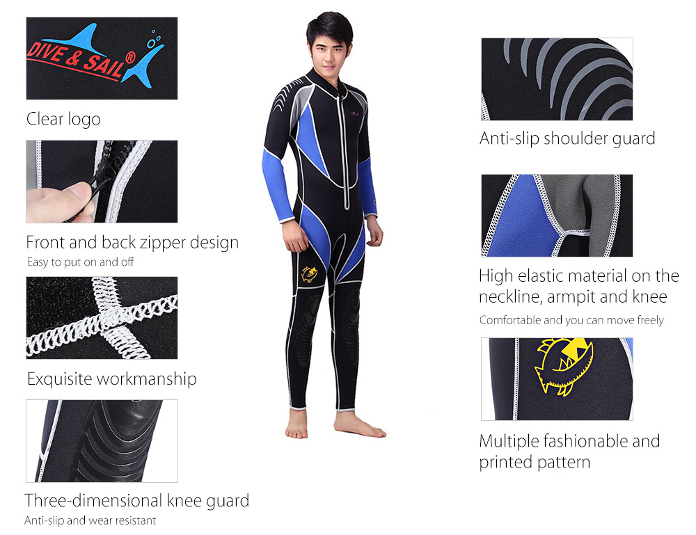 DIVE - SAIL WDS - 4125 Diving Dress Suit Anti-slip Thermal Clothes Swimming Equipment