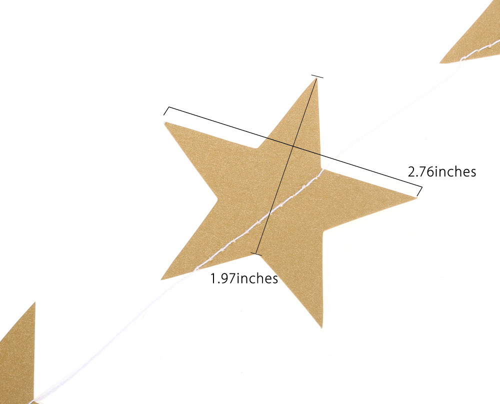Pearl Paper Star Shaped Hanging Ornaments Garland Decoration Wedding Party Layout Accessories
