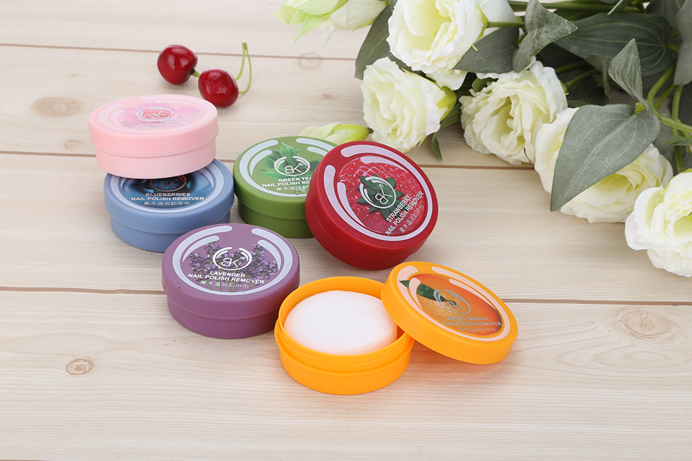 Cosmetics Oil Nail Polish Remover Resurrection Towel Flower Fruit Flavored Wash Cotton