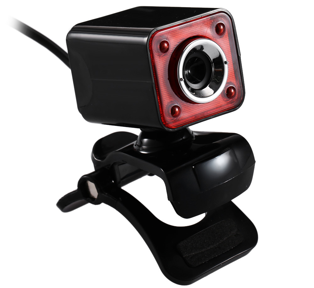 A862 USB 2.0 1.3 Megapixel HD LED Camera Webcam with Microphone Clip-on 360 Degree