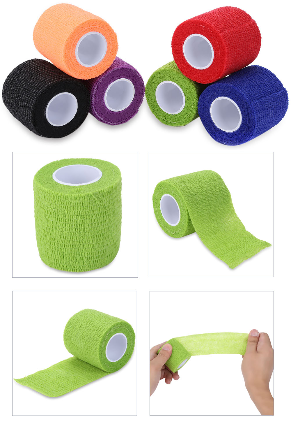 Tattoo Self Adhesive Elastic 5CM Wide Nail Tapes Finger Protection Wrap Sports Tennis Elbow Bandage