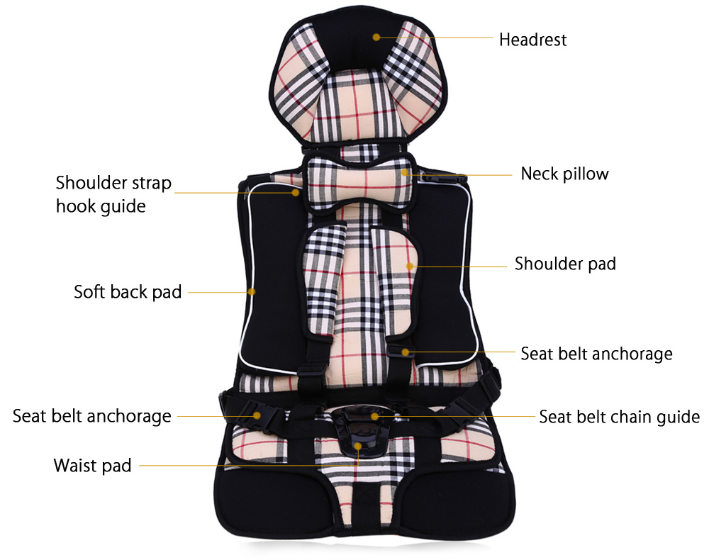 Baby Car Safety Seat Adjustable Portable Infant Chair