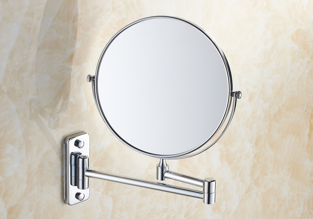 8 Inch Double Sides Swivel Wall Mounted Makeup Mirror Square Base