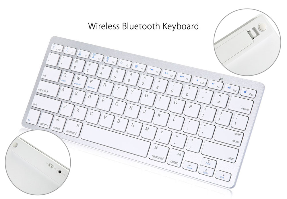 4 in 1 Stylus Pen Detachable Wireless Bluetooth Keyboard Cover Screen Film for iPad Air 2