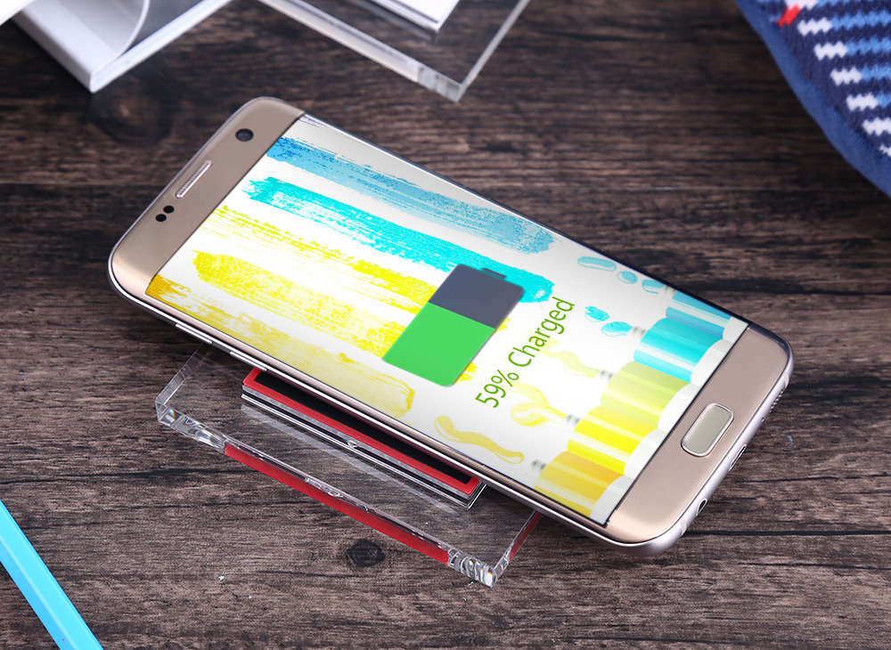 G80 Qi Transparent Crystal Border Wireless Charger