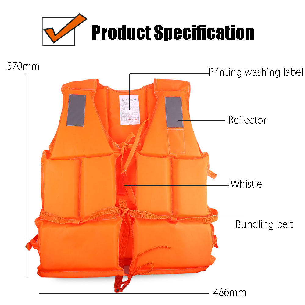 Adult Working Life Jacket Vest with 4 Reflector
