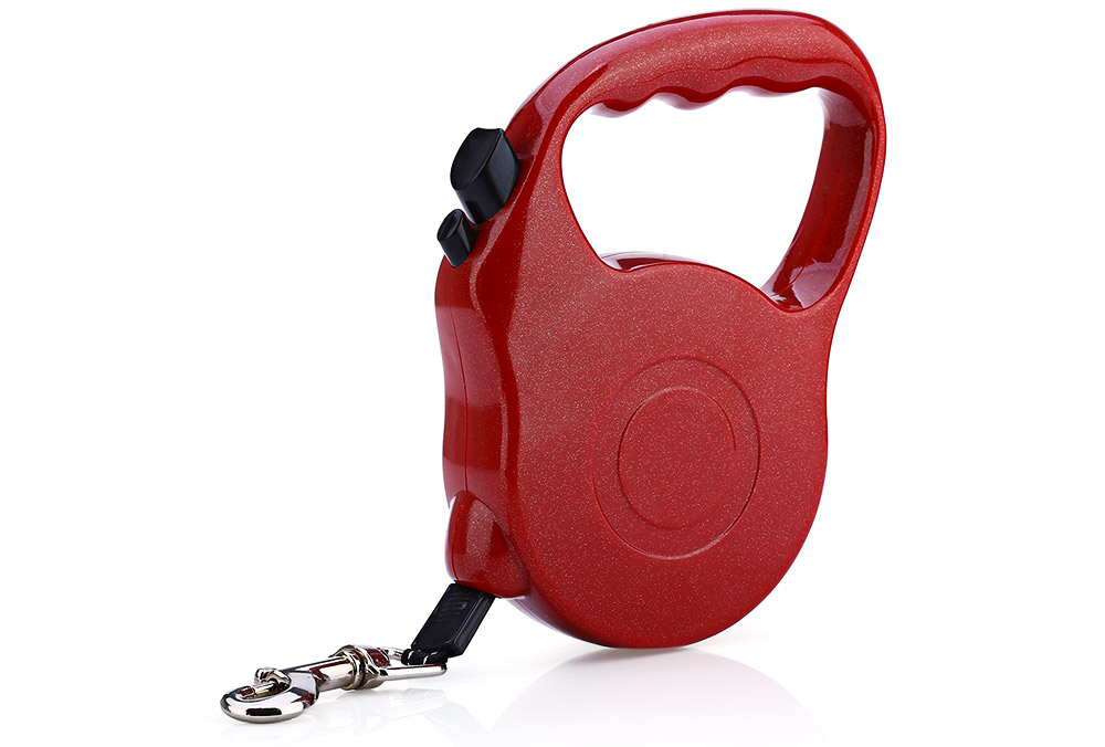 5m One-handed Lock Extendable Pet Leash Lead for Dogs Cats