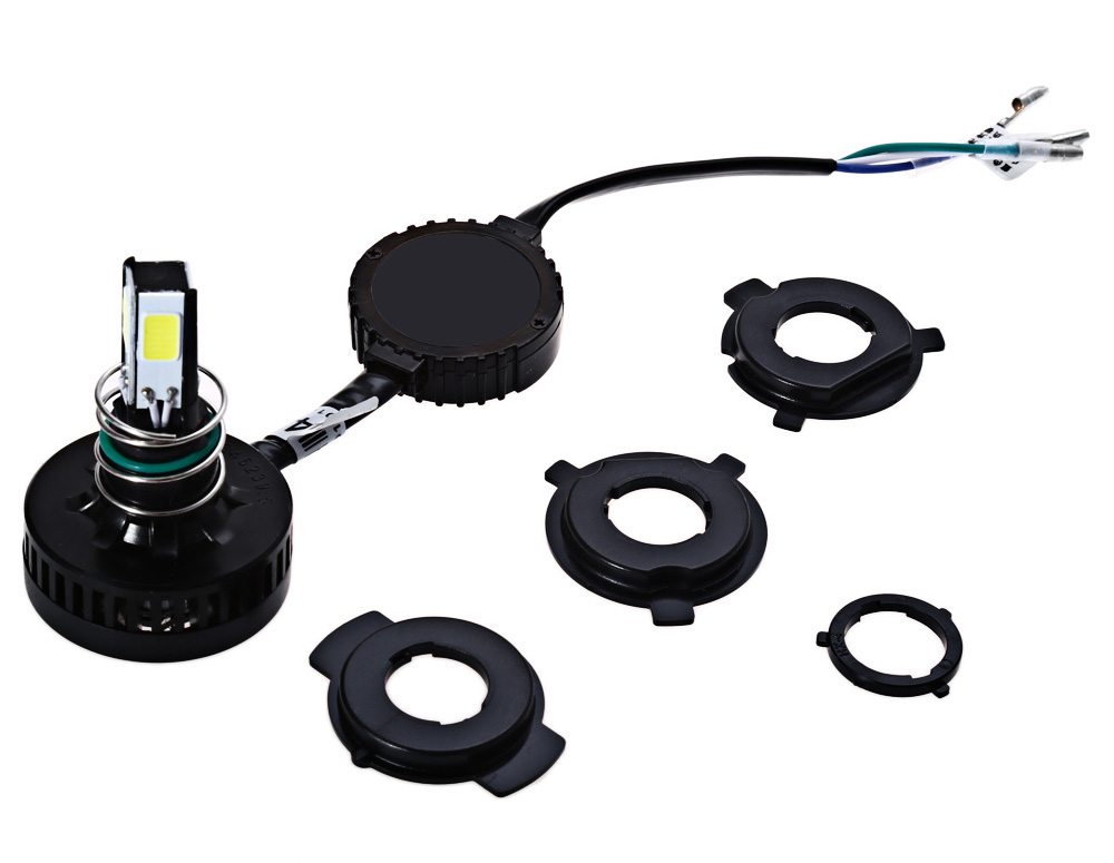 M4 2200LM 20W Motorcycle LED Headlight Conversion Kit DC 6 - 36V High / Low Beam