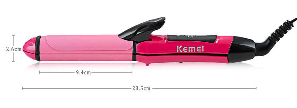 KM - 1055 Portable 2 in 1 Electric Hair Curler Personal Hair Styling Tools Ceramic Curling Iron