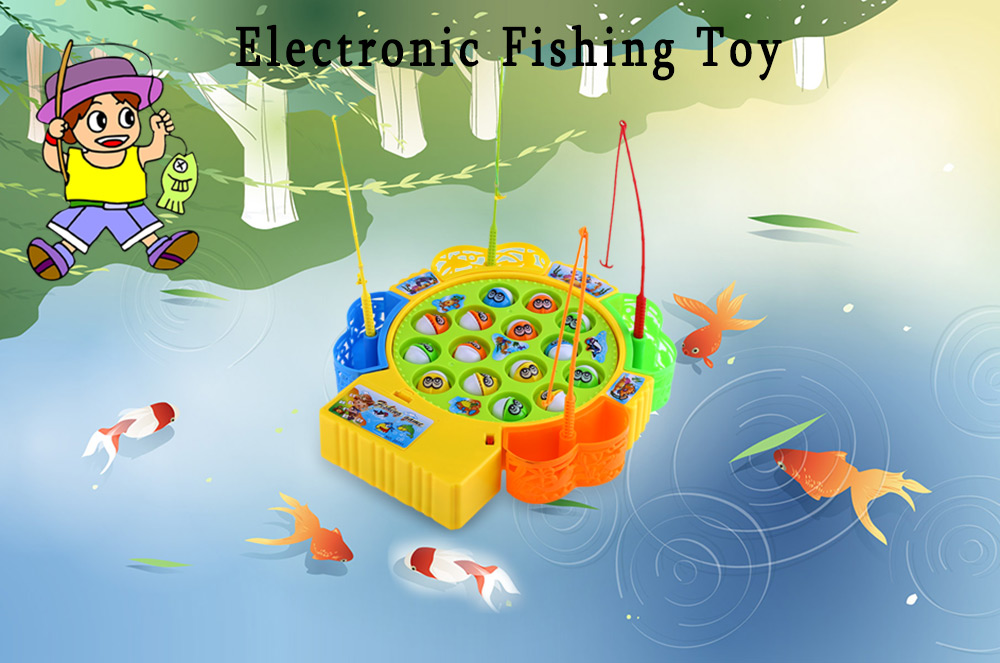 Kids electronic fishing toy parent child funny game for Electronic fishing game