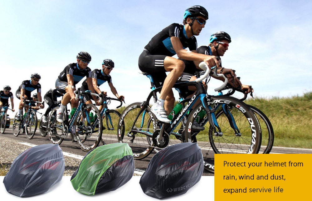 Wildcycle Windproof Waterproof Bike Helmet Rain Cover Dust-proof Cap