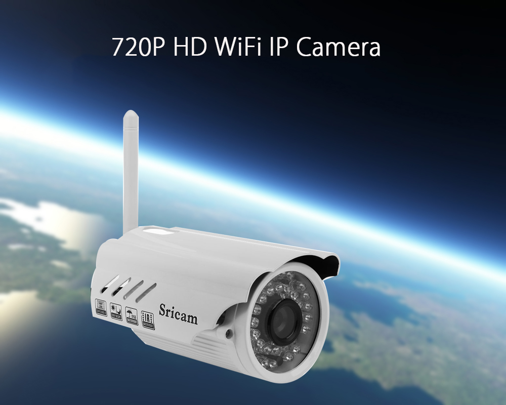 Sricam SP014 Wireless WiFi 3.6mm Lens Security IP Camera