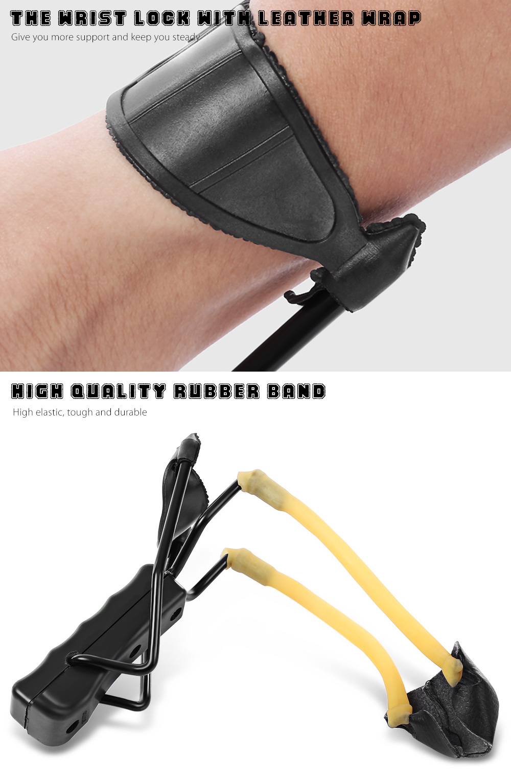 Rubber Band Slingshot Wrist Catapult Outdoor Hunting Tools