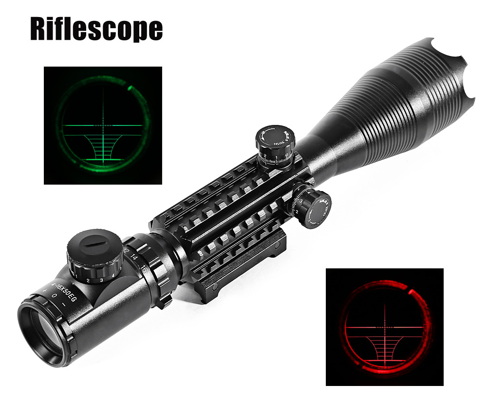 C4 - 16 X 50 EG Professional Laser Scope for Rifle Sniper Hunting Accessory