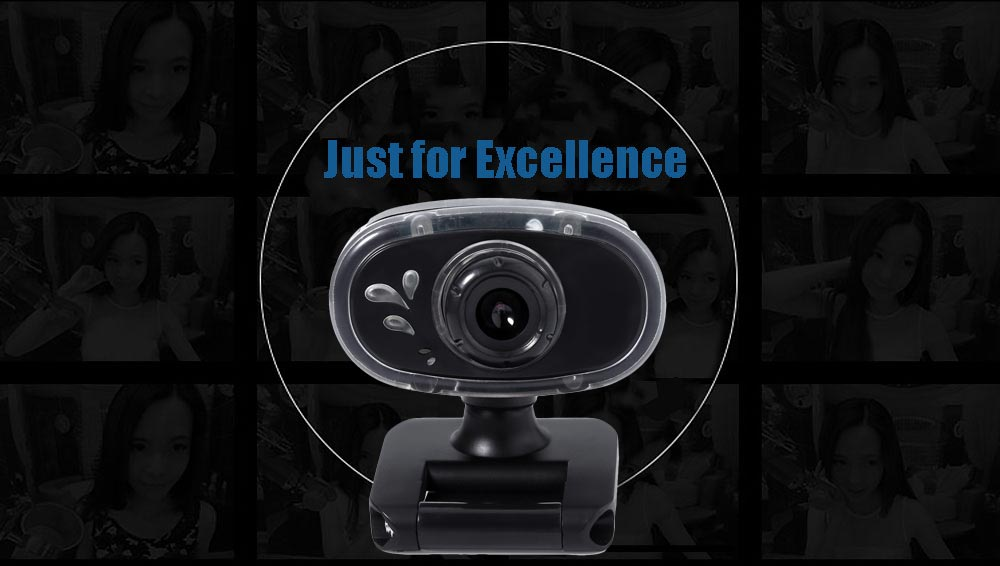 A881 USB 2.0 1.3 Megapixel HD Camera Webcam with MIC Clip-on 180 Degree