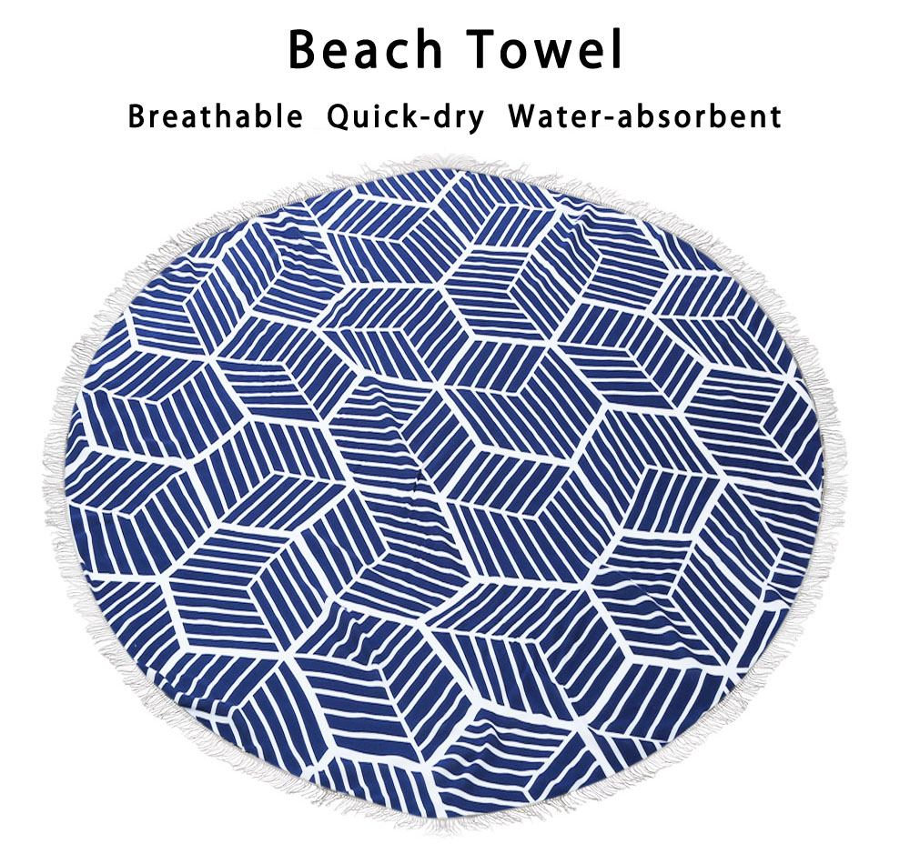 Fashionable Beach Towel Printed Round Cushion