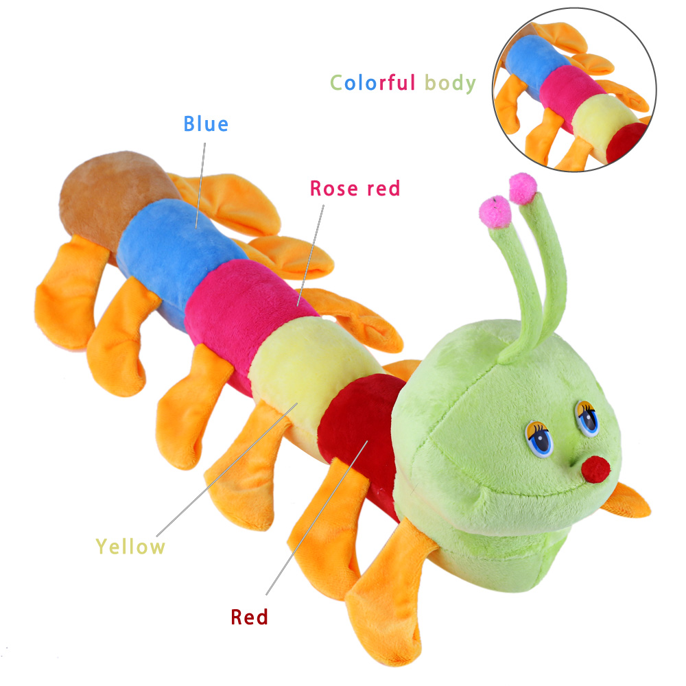 Colorful Inchworm Soft Lovely Plush Doll Toy