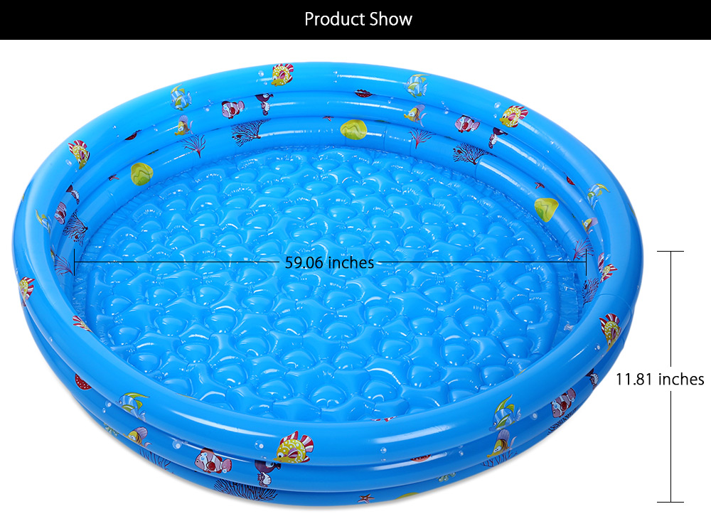 Three Rings Baby Inflatable Swimming Paddling Pool Bathtub with Pump