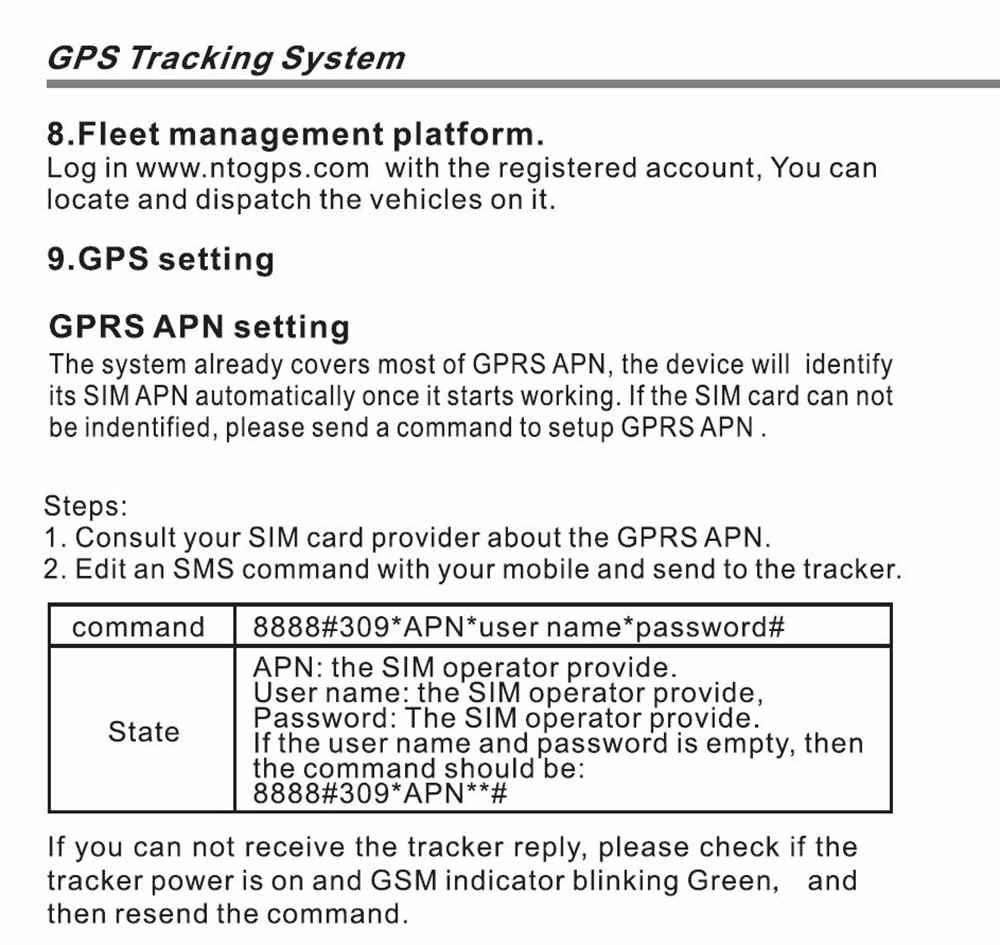 NTG02 Motorcycle GPS Tracking System Water-resistant Tracker
