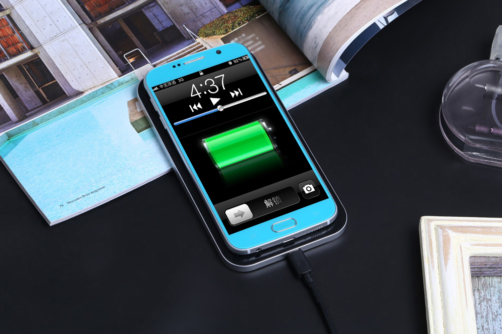 G1 Qi Wireless Charging Pad Oblong Aluminum Alloy Charger